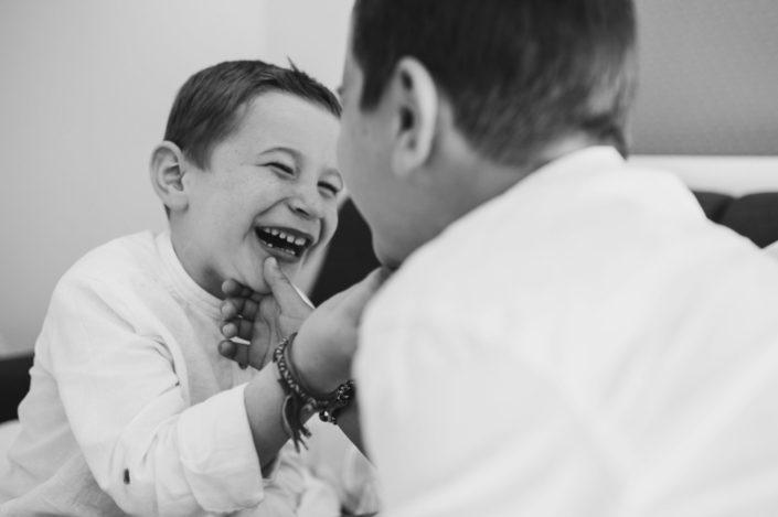 Photographies d'enfants noir et blanc