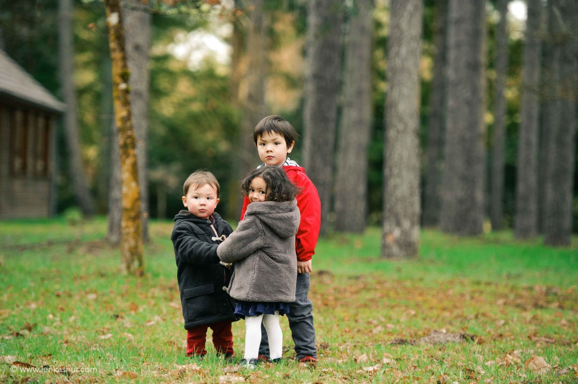 Session photo de famille à Pâques