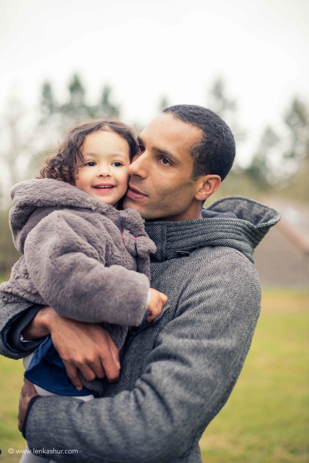 Photographie de papa et fille