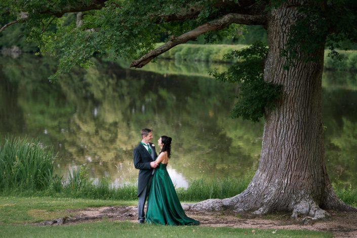 Robe verte de mariage