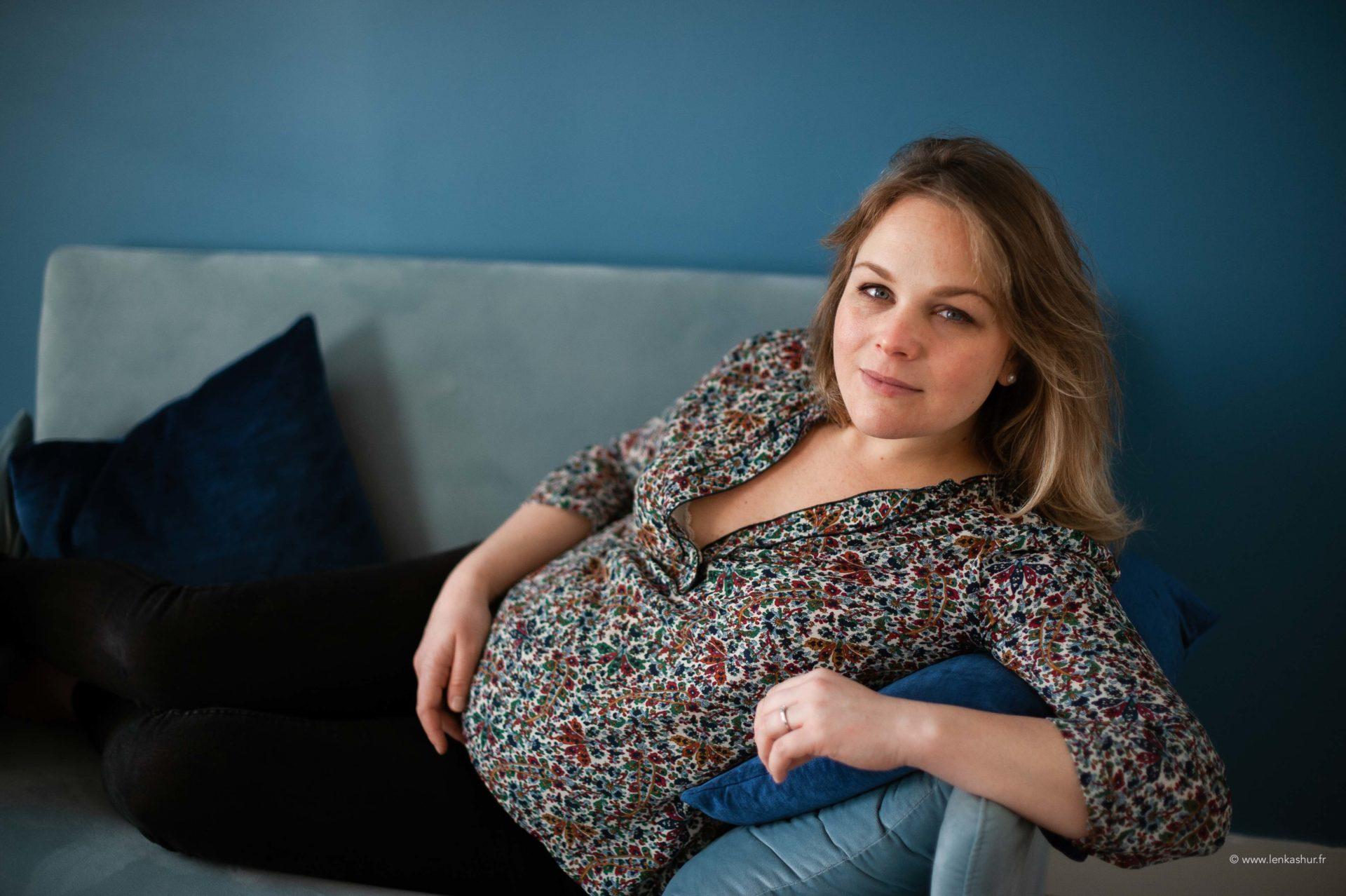 Portrait d'une femme enceinte